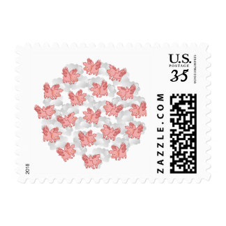 Funny Flying Pigs postage stamps
