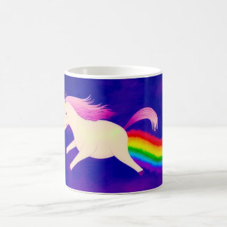 Funny Flying Unicorn Farting a Rainbow Coffee Mug