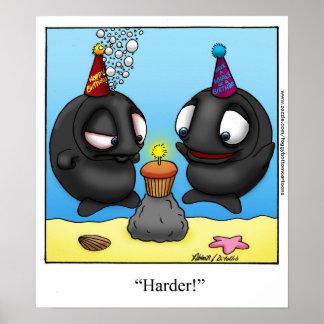 "Funny ""Foggy Bottom"" Cartoon Birthday Poster"