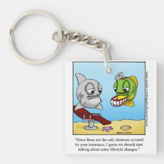 Funny Foggy Bottom Cartoon Key Chain