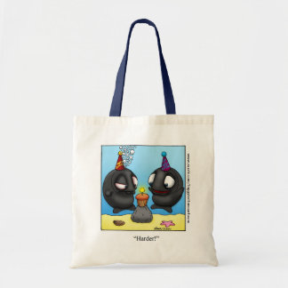 "Funny ""Foggy Bottom"" Cartoon Tote Bag"