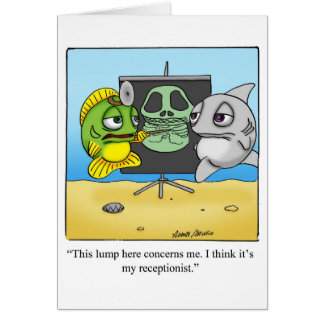 """Funny """"Foggy Bottom"""" Get Well Notecard Cards"""
