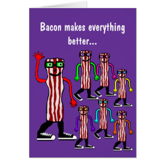 Funny Food Bacon & Egg Birthday Card Gift