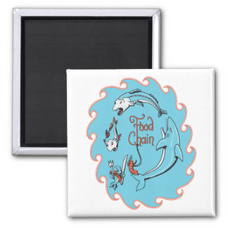 funny food chain vector graphic 2 inch square magnet