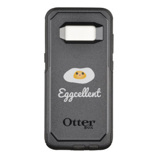 Funny Foodie Cute Egg Eggcellent Humorous Food Pun OtterBox Commuter Samsung Galaxy S8 Case
