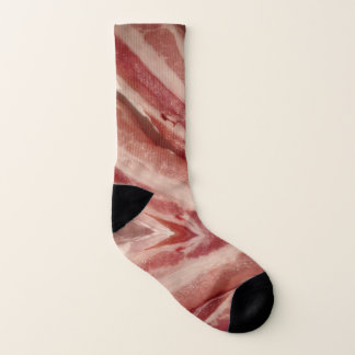 Funny foodie humor pork ham lover bacon socks