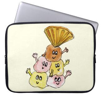 Funny foodie novelty balanced ice cream sundae laptop sleeve