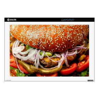 funny foodie novelty cheeseburger hamburger decals for laptops