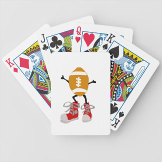 Funny Football Character in Red Sneakers Bicycle Playing Cards