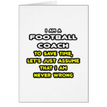Funny Football Coach T-Shirts and Gifts Card