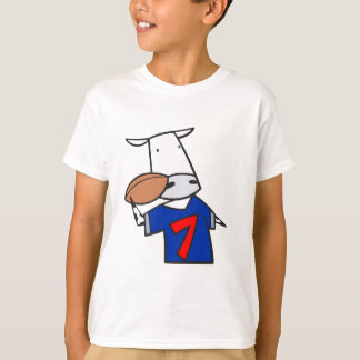 funny football cow cartoon T-Shirt