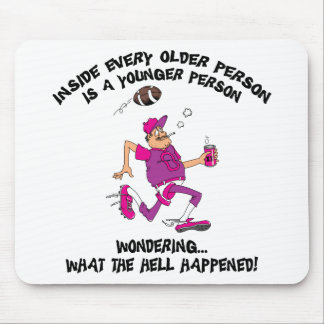 Funny Football Grandpa Gift Mouse Pad