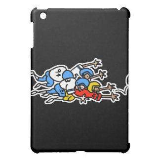 funny football humor tackle pile up graphic iPad mini cases