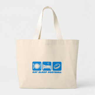 Funny football jumbo tote bag
