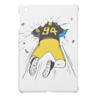 funny football player crashed into wall iPad mini cover