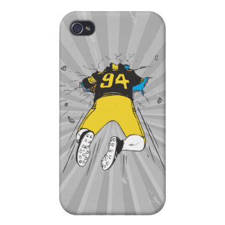 funny football player crashed into wall iPhone 4/4S cover