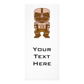 funny football tiki graphic rack card