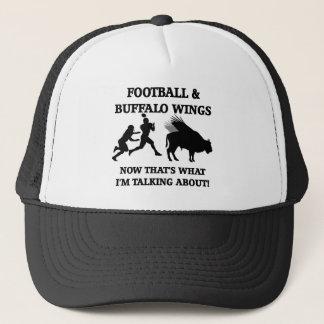 funny football trucker hat