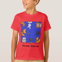 """Funny Forest Animals-""""forest friends"""" T-Shirt"""