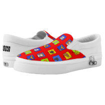 Funny Forest Animals-Repeated Slip-On Sneakers