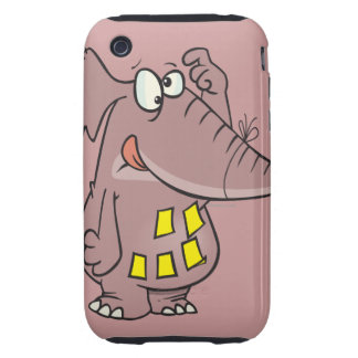 funny forgetful elephant with sticky notes tough iPhone 3 case