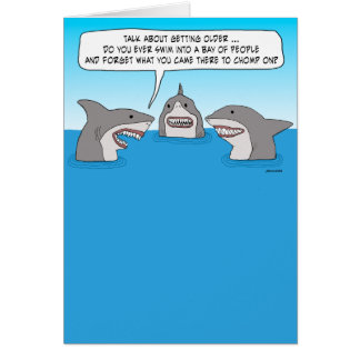 Funny Forgetful Shark Birthday Card