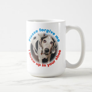 Funny Forgive me, I threw up in your shoe Dog Mug