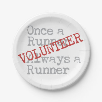 Funny Former Runner Volunteer Paper Plate