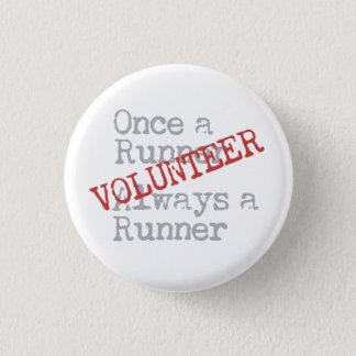 Funny Former Runner Volunteer Pinback Button