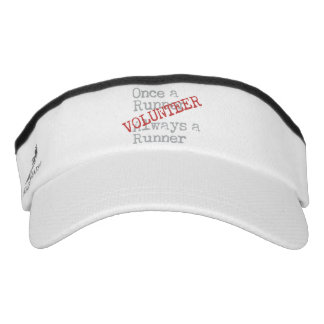 Funny Former Runner Volunteer Visor