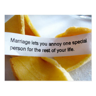 Funny fortune Cookie Marriage Joke Postcard