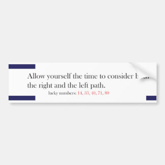 Funny Fortune Cookie Style Bumper Sticker Paths