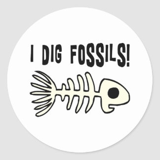 Funny Fossil Gift Item Classic Round Sticker