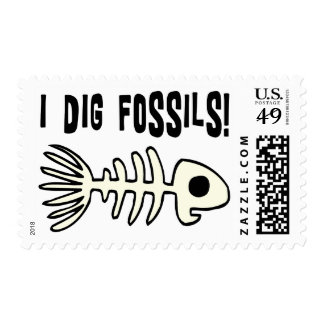 Funny Fossil Gift Item Stamp