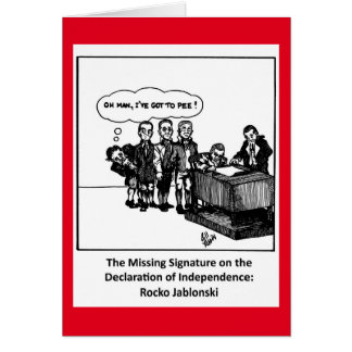 Funny Fourth Of July Greeting Card