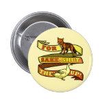 Funny Fox Duck Animal Pun Buttons
