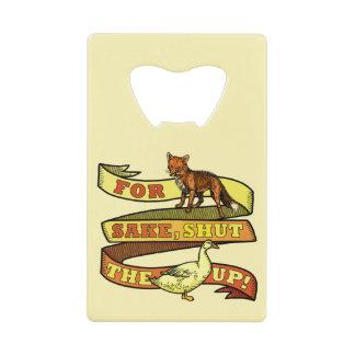Funny Fox Duck Animal Pun Credit Card Bottle Opener