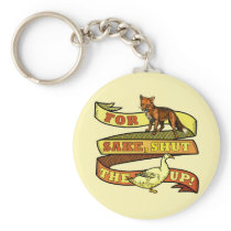 Funny Fox Duck Animal Pun Keychain