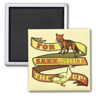 Funny Fox Duck Animal Pun Magnet