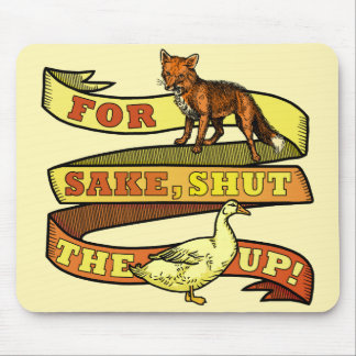 Funny Fox Duck Animal Pun Mouse Pad