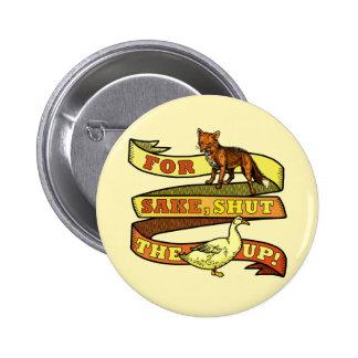 Funny Fox Duck Animal Pun Pinback Button