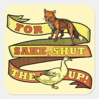 Funny Fox Duck Animal Pun Sticker
