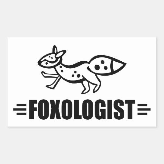 Funny Fox Rectangular Sticker