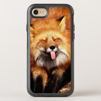Funny Fox Sticking It's Tongue Out OtterBox Symmetry iPhone 8/7 Case