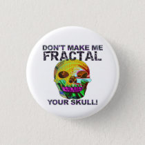 Funny Fractal Skull Button