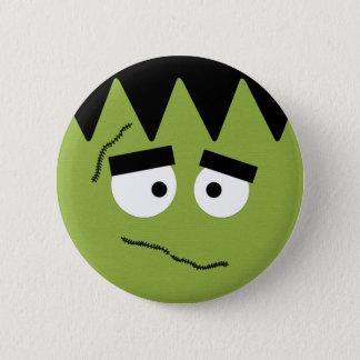 Funny Frankenstein Face for Halloween Pinback Button