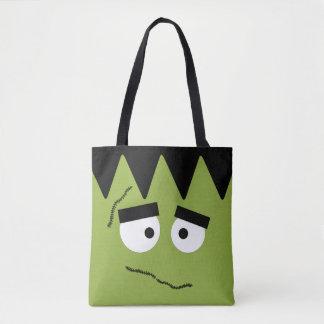 Funny Frankenstein Face for Halloween Tote Bag