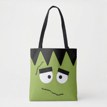 Halloween Themed Funny Frankenstein Face for Halloween Tote Bag