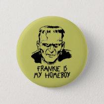 Funny Frankenstein Halloween Button
