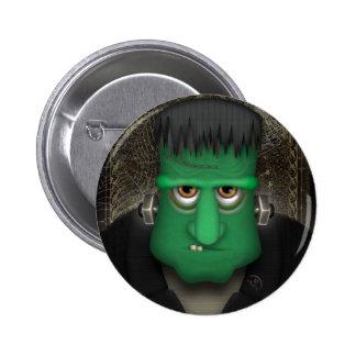Funny Frankenstein Halloween Costume Pinback Buttons